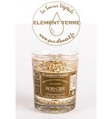 Bougie à la cire d'abeille parfumée Bois Ciré