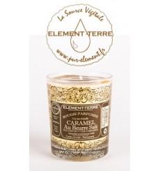 Bougie à la cire d'abeille parfumée Caramel Beurre Salé