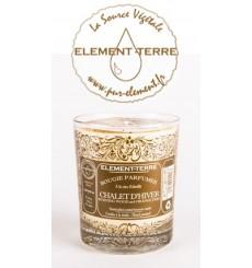 Bougie à la cire d'abeille parfumée Chalet d'Hiver
