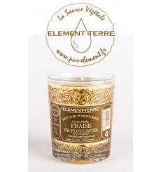 Bougie à la cire d'abeille parfumée Fraise de Plougastel