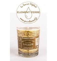 Bougie à la cire d'abeille parfumée Lavande