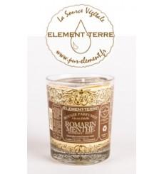 Bougie à la cire d'abeille parfumée Romarin Menthe