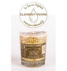 Bougie à la cire d'abeille parfumée Vanille Pêche