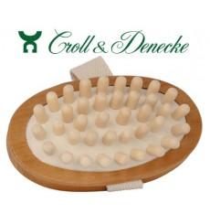 Brosse de massage avec picots en bois