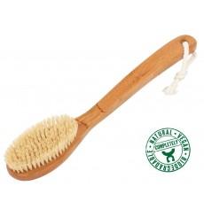Brosse de bain en bambou et poils de coco