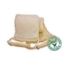 Lanière de massage biface sisal/éponge