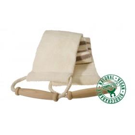 Lanière de massage en coton et toile rayée
