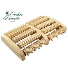 Rouleau de massage pour pieds en bois 2x5