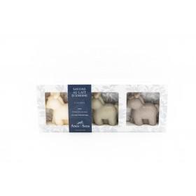 Coffret cadeau troupeau au lait d'ânesse 3x148 g