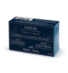 Savon exfoliant au lait d'ânesse et graines de pavot, 150 g