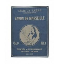 "Torchon en coton tissé, ""Savon de Marseille"" - Marius Fabre"