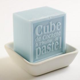 Cube de Cocagne à l'huile de Pastel, Bleu Alazado